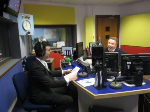 Aaron interviewed by James Cannon on the breakfast programme - 28th March 2014